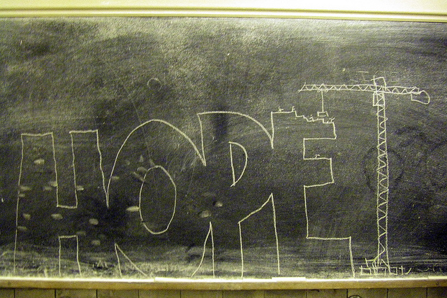 chalk board hope (flickr PShanks)